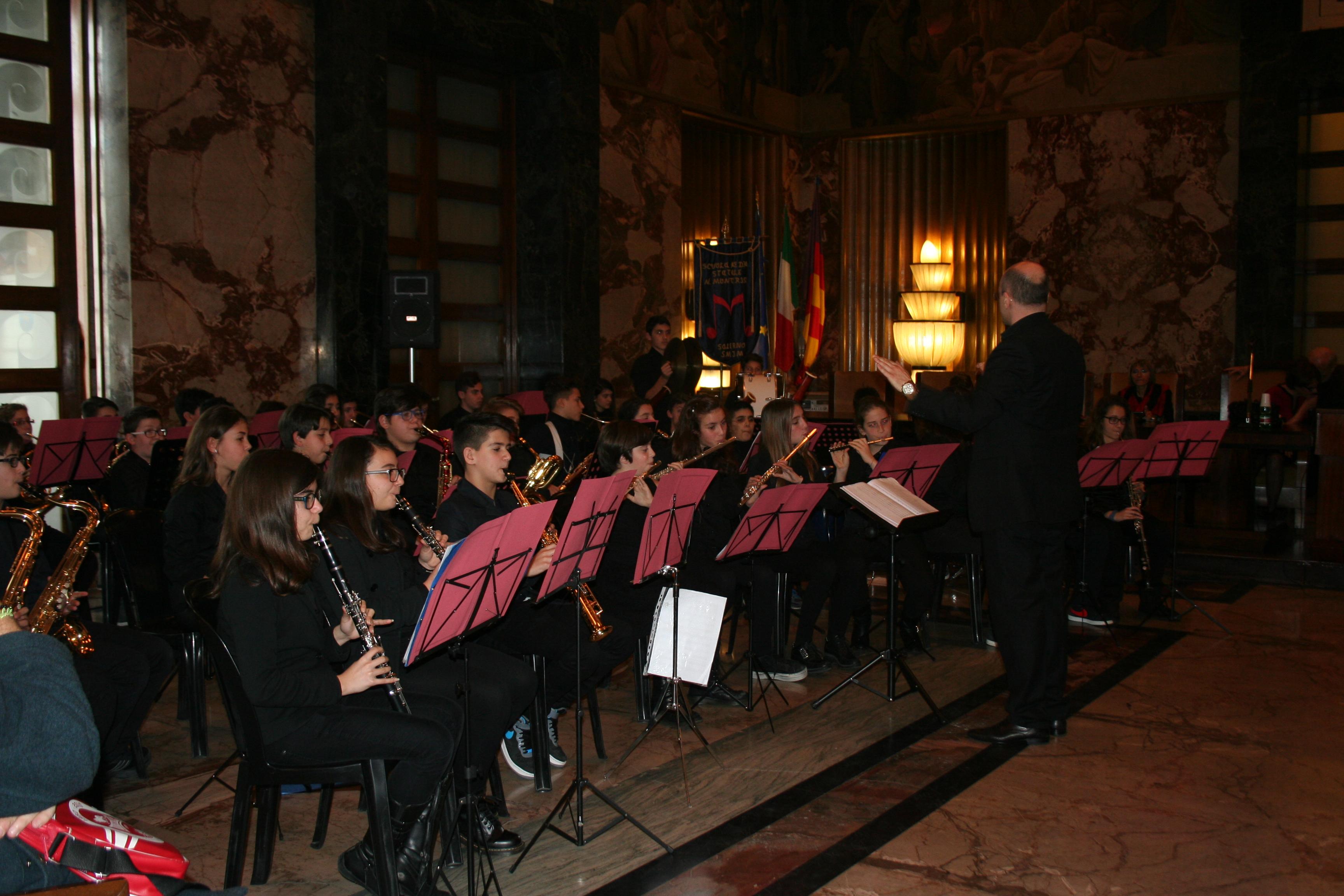 Orchestra Fiati al Salone dei Marmi del Comune di Salerno