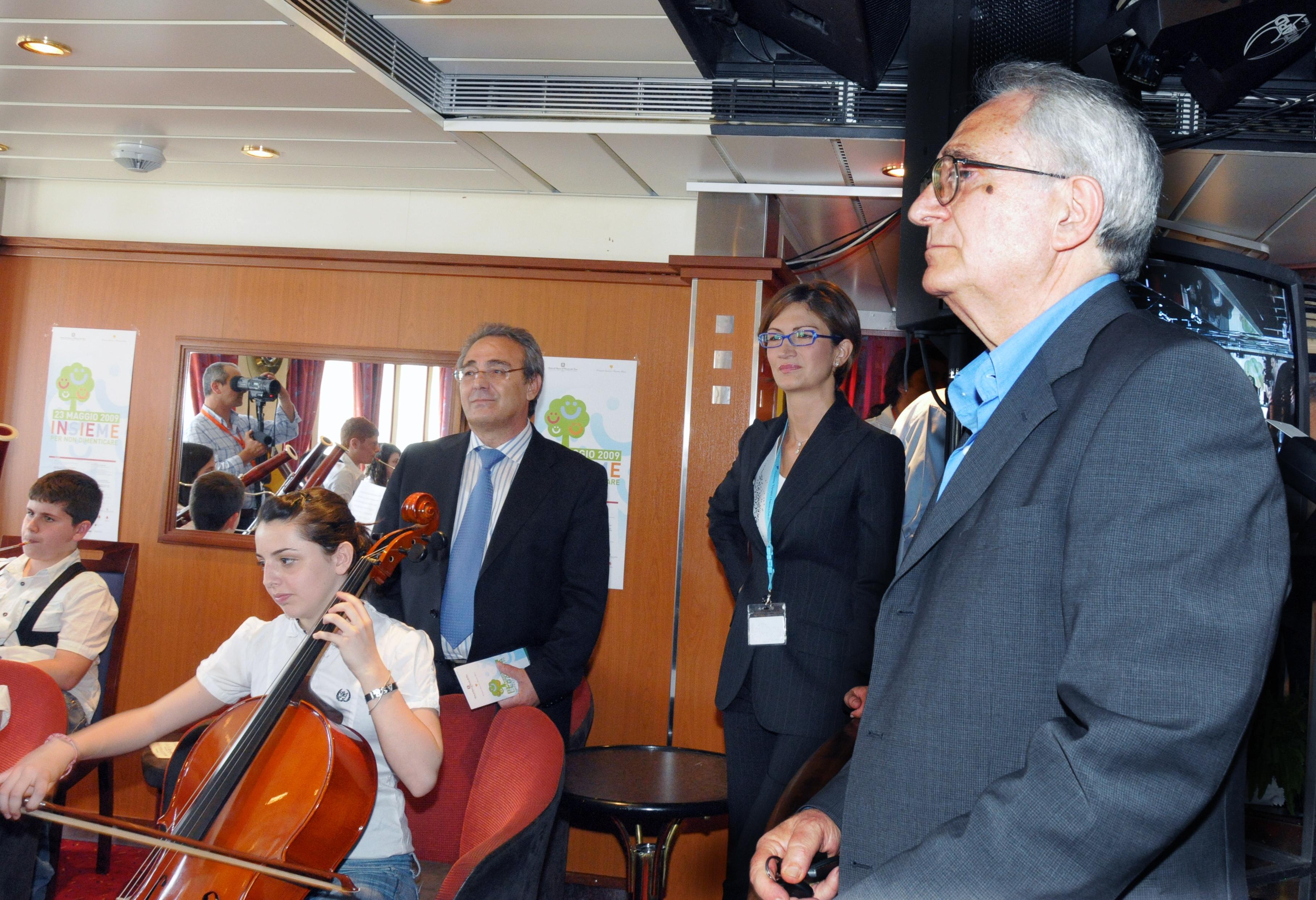 La Nave della Legalità 2009 con il Ministro dell'Istruzione Gelmini